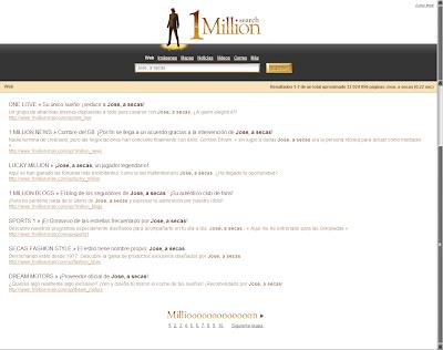 Yo en One Million Man Search