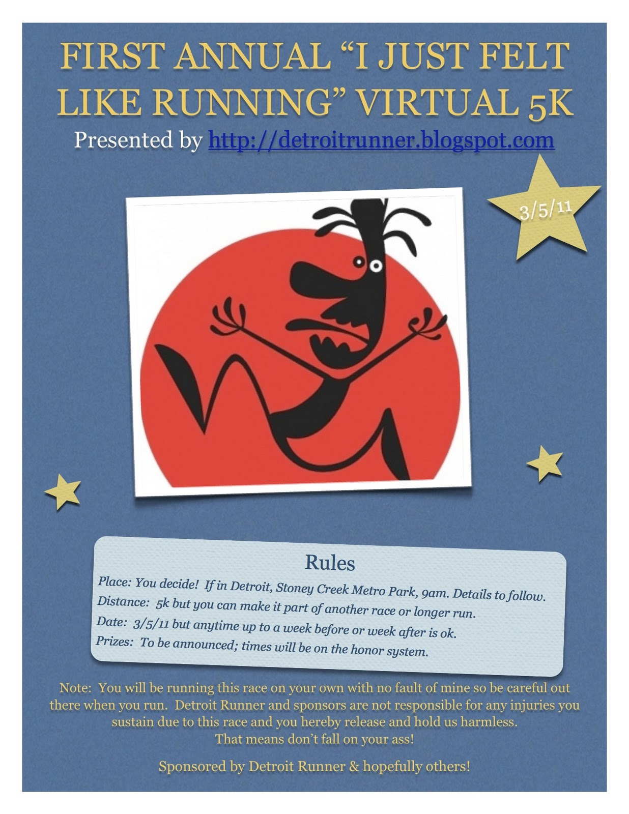 Click here for the virtual 5k at Detroit Runner