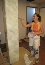 Här marmorerar jag 9 st pelare...