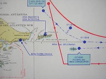 LA ARMADA NOS INDICA AQUI EN 1982 NAVEGANDO CON EL GRUPO DE TAREAS 79.3