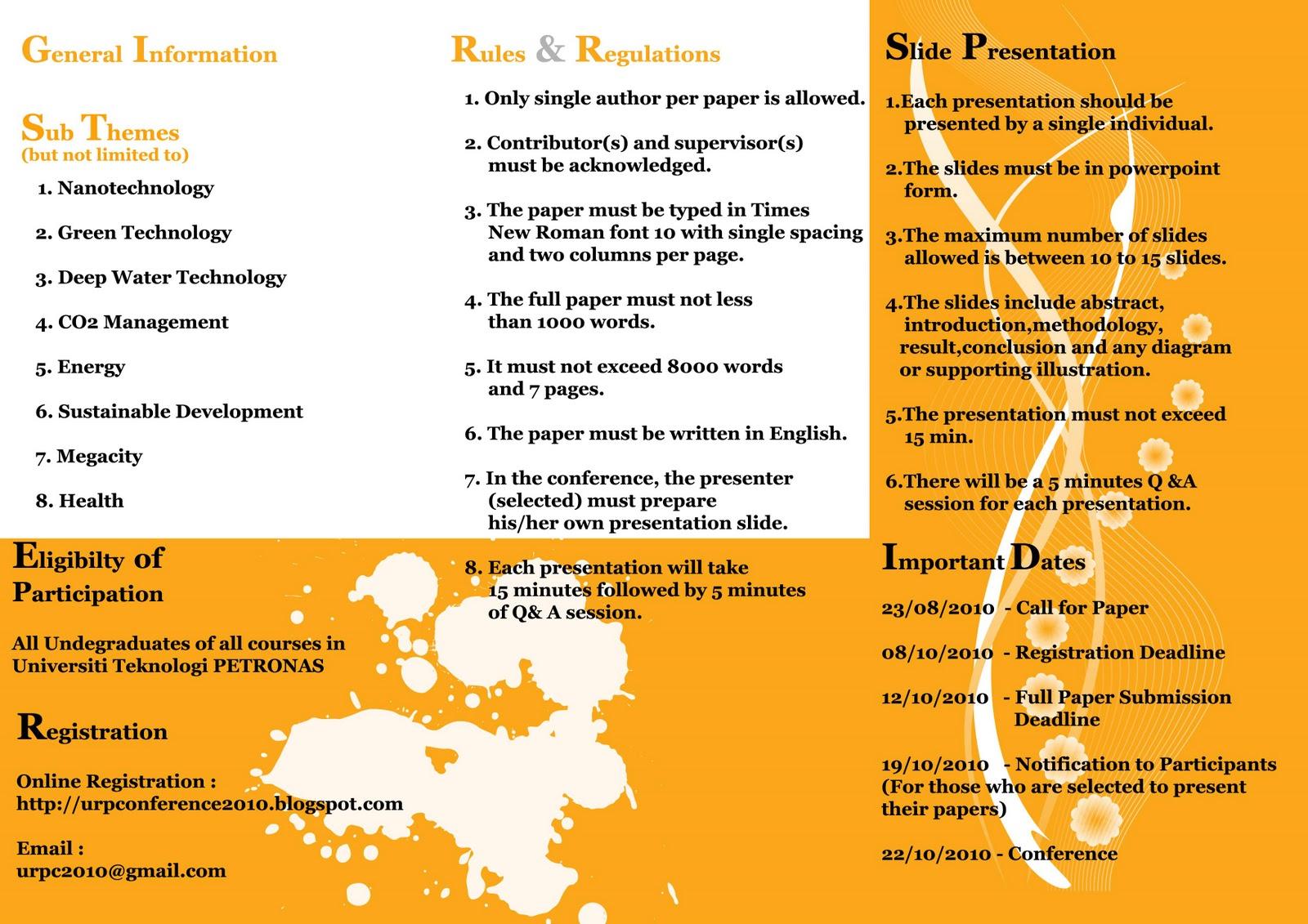 Contoh Pamphlet Program