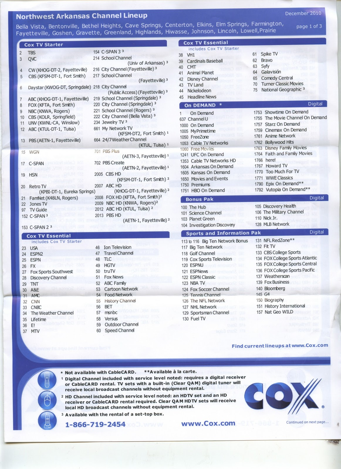 Cox Digital Channel Guide Pictures to Pin on Pinterest - PinsDaddy