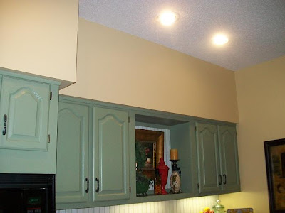 Cabinets Hangs Out From Soffit