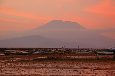 Gunung Agung as seen from Lembongan Island