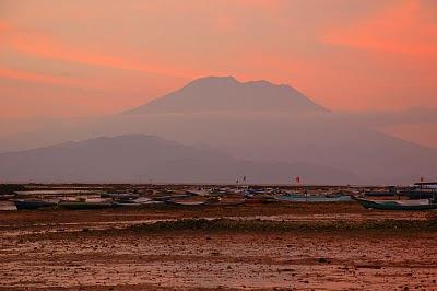 Gunung Agung as seen from Lembongan Island