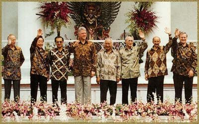 At the opening session of the Asia-Pacific Economic Conference in November 1994 in Jakarta