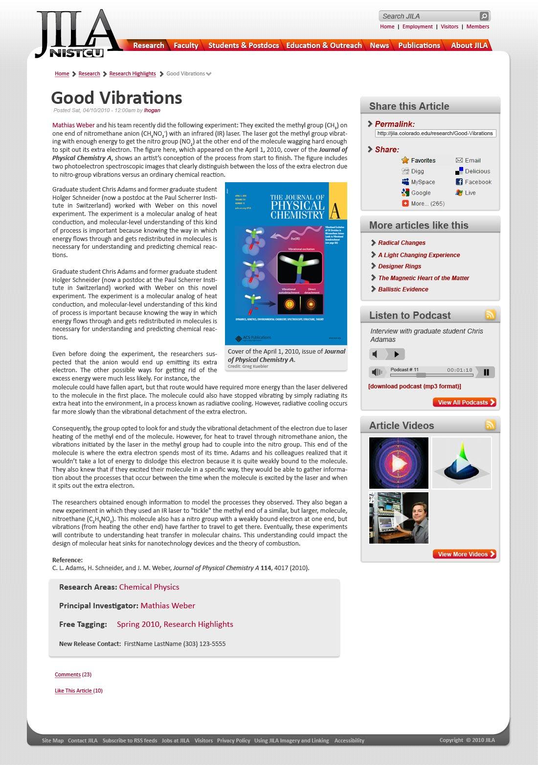 Greg Kuebler Jila Nist Cu Website Redesignoverhaul To Drupal