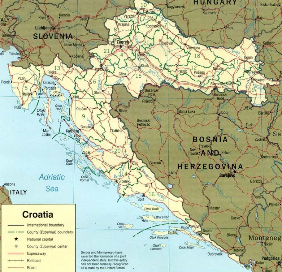 CARTINA GEOGRAFICA ITALIA SLOVENIA CROAZIA Wrocawski