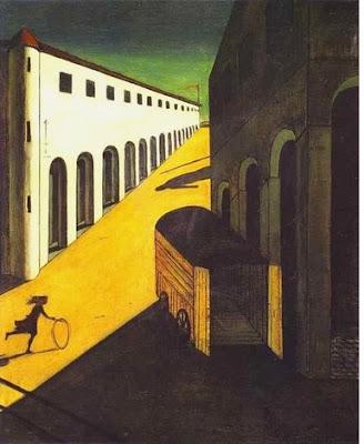 giorgio de chirico - Mystère et mélancolie d'une rue, 1914