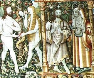 tentation d'Adam et Eve tapisserie deLa Chaise Dieu