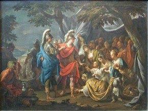 Francesco Trevisani, La Famille de Darius aux pieds d'Alexandre