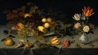 Balthasar van der Ast-still life with fruit and flowers