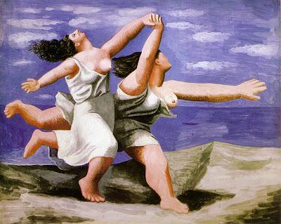 picasso- deux femmes courant sur la plage
