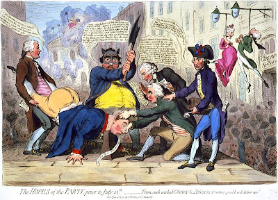 James Gillray - The Hopes of the Party, prior to July 14th.