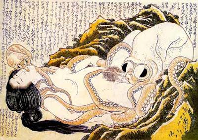 Hokusai -  Le rêve de la femme du pêcheur
