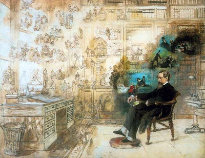 Dickens' Dream - Robert W. Buss (1804-1875)