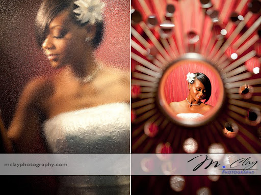 Abstract portraits from Ericka's Charlotte bridal session.  Wedding Photographer - M. Clay Photography