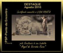 Certificado de Excelência do Mes de AGosto de 2010_Grupo Ponto de Encontro