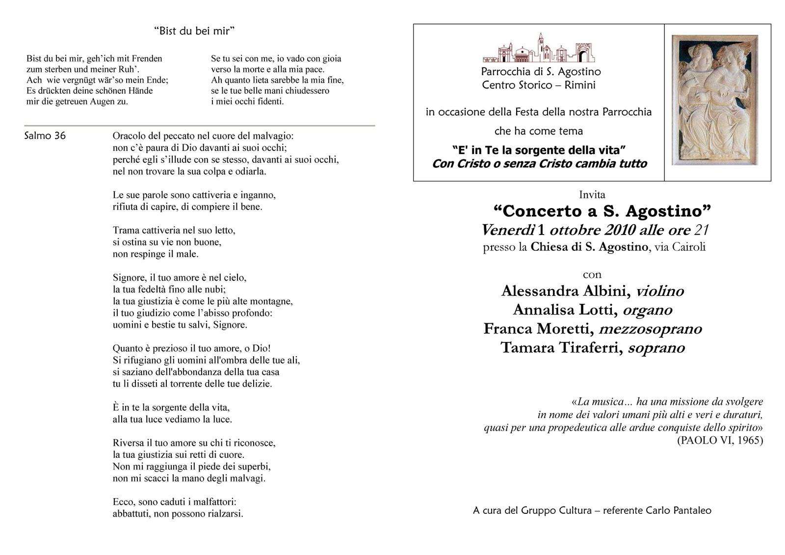 Concerto A S Agostino Rimini 1 Ott Narrabilando