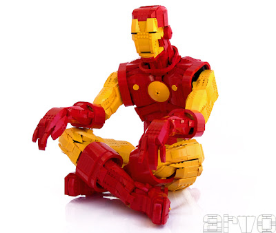 Lego iron man snap