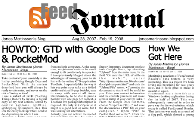 Gadgets tips- Turn rss into newspaper