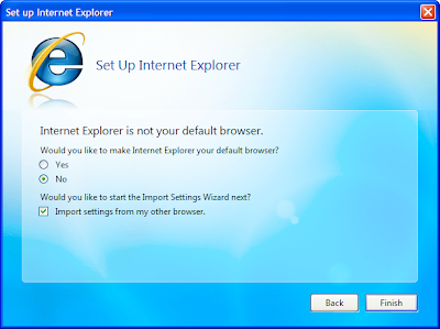 IE 8.1 default browser setting