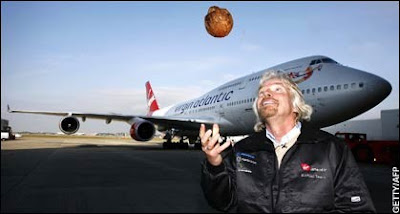 Branson with virgin coconut first flight