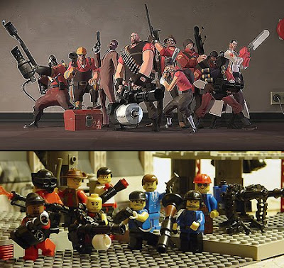 LEGO and Fortress 2 team