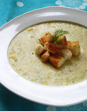 Creamy Potato Dill Soup with Pan-Toasted Croutons from RHIW