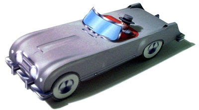 1953 Nash Healey Roadster Papercraft