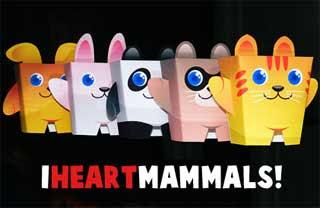I Heart Mammals Paper Toys