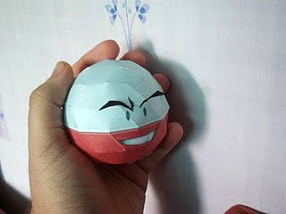 Pokemon Electrode Papercraft 2