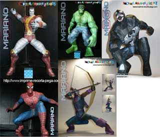 Marvel Superhero Papercrafts