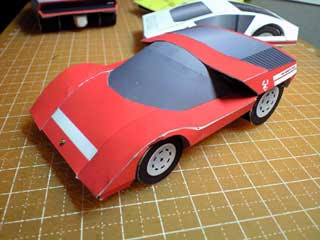 Pininfarina Fiat Abarth 2000 Scorpio Papercraft