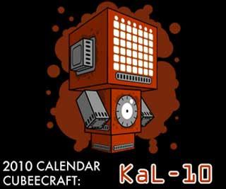 Kal-10 Calendar Papercraft