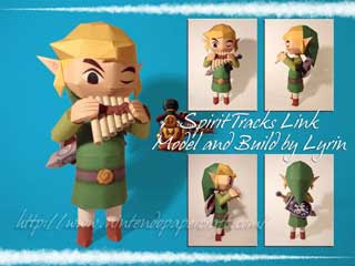 Spirit Tracks Link Papercraft