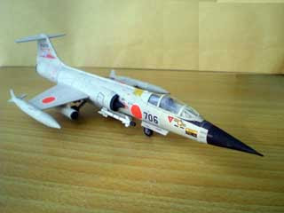 Lockheed F104 Starfighter Papercraft Jet