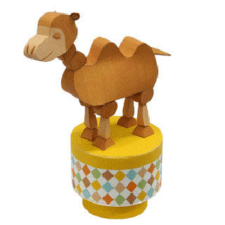 Push Up Toy Camel Papercraft