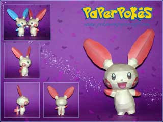 Pokemon Plusle Papercraft