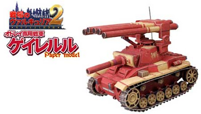Valkyria Chronicles Tank Papercraft