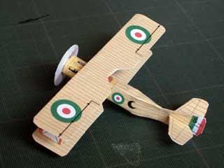 SPAD VII Biplane Papercraft