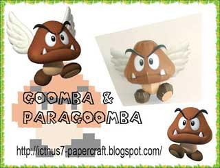 Paragoomba Papercraft