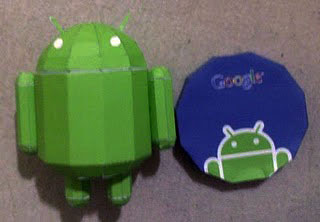 Google Android Papercraft Mascot