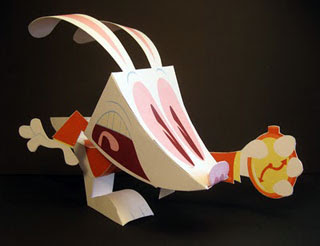 White Rabbit Papercraft