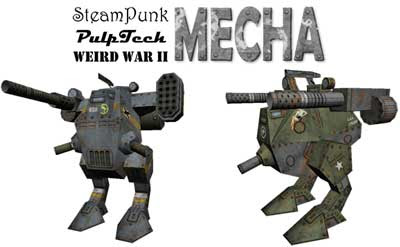 Steampunk Mecha Papercraft