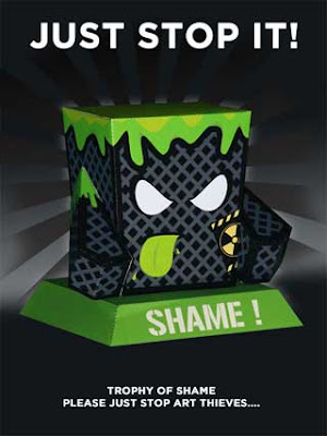 Trophy of Shame Paper Toy