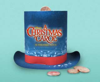 A Christmas Carol Top Hat Papercraft