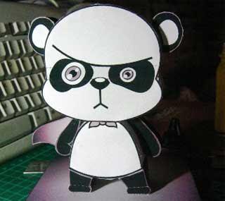 Super Panda Papercraft