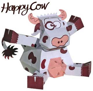 Happy Cow Paper Toy