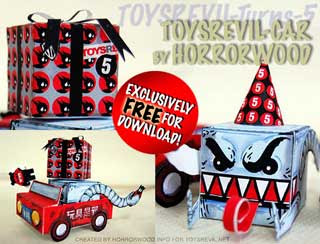 TRE Birthday Car Paper Toy